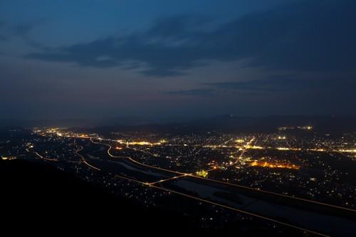 福山北部の夜景