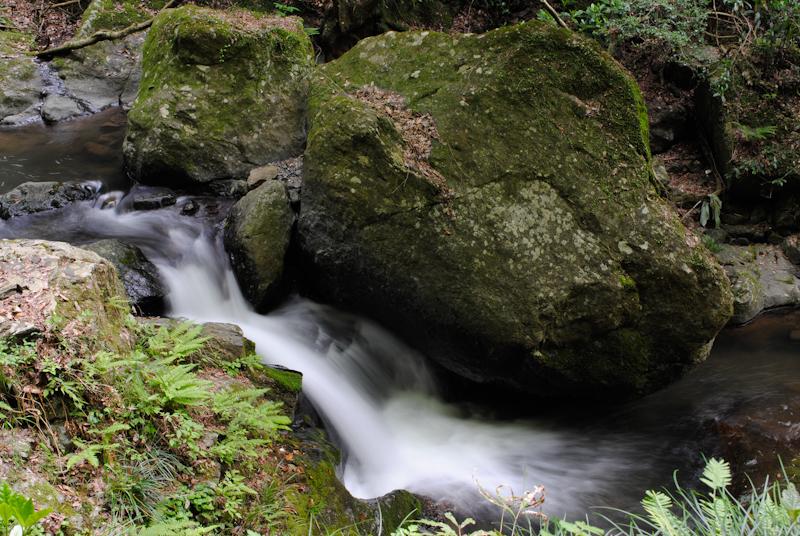龍頭の滝近くの川
