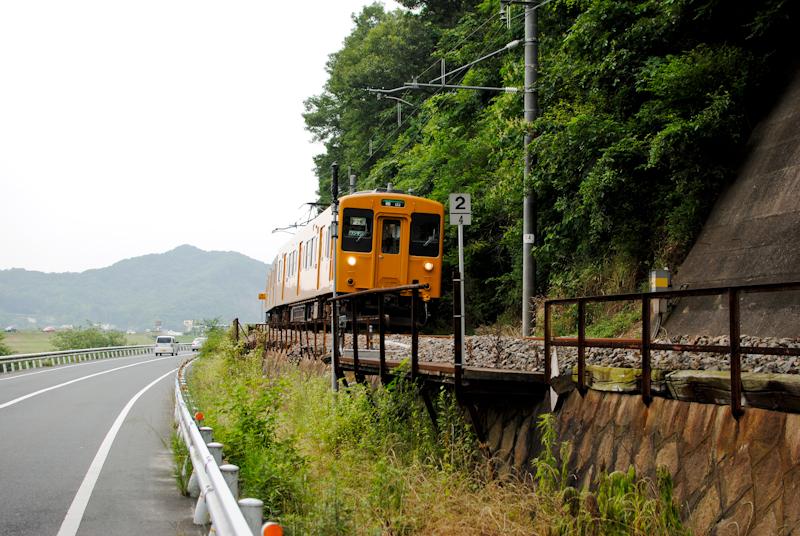 福塩線の電車