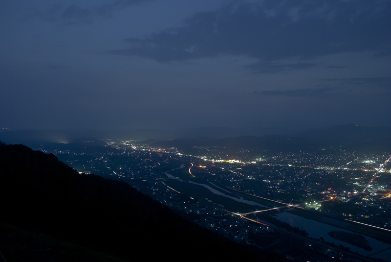 福山市北部の夜景